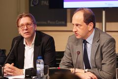 ALDE Group leader, Guy Verhofstadt, and VP of the European Parliament, Alexander Graf Lambsdorff