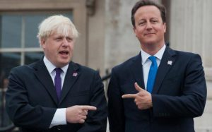 Boris Johnson and David Cameron: conflicted over the referendum