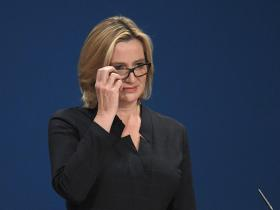 Amber Rudd: controversial speech at Tory Conference
