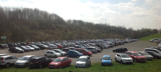 Full car park at Snibston